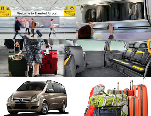 How to travel heathrow to stansted with more number of luggage